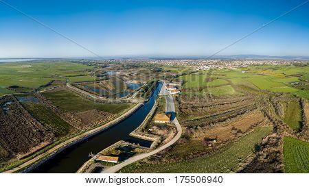 Aerial View Of Cais Da Ribeira De Pardelhas