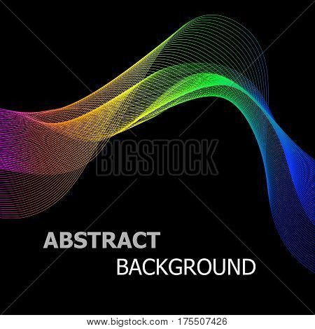 Abstract background with colourful line wave, stock vector