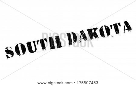 South Dakota rubber stamp. Grunge design with dust scratches. Effects can be easily removed for a clean, crisp look. Color is easily changed.