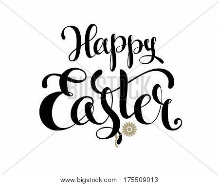 Happy Easter. Vector lettering. Eps8 RGB Global colors
