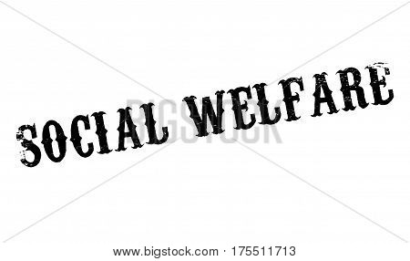 Social Welfare rubber stamp. Grunge design with dust scratches. Effects can be easily removed for a clean, crisp look. Color is easily changed.