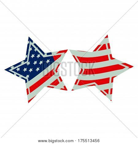 stars with stars and stripes icon, vector illustraction design