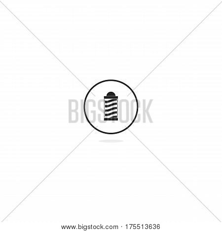 Barbershop Sign or Symbol Vector Icon. Isolated.
