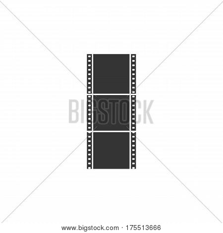 Flat Film Roll Vector Icon. Isolated on White.