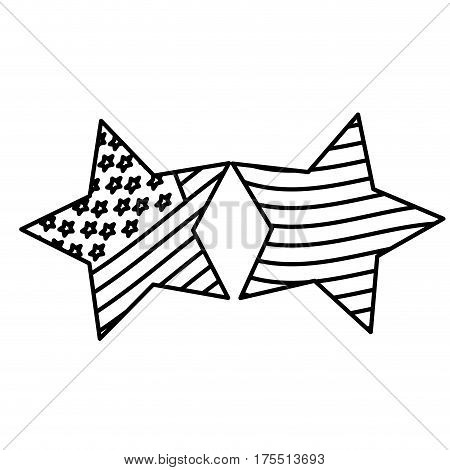 figure stars with stars and stripes icon, vector illustraction design