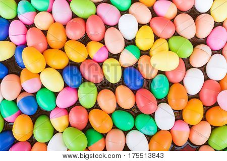 Colorful Plastic Eggs Toy