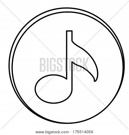 figure music emblem icon, vector illustraction design