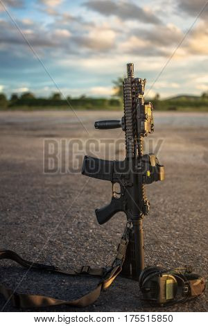 assault rifle ar15 model mk18 mod1 marsoc