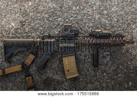 assault rifle model mk18 mod1 5.56 for marsoc