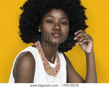 Woman Portrait Studio Shoot Casual