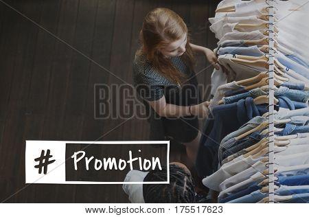 Promotion Enjoyment Shopaholics Customer Store