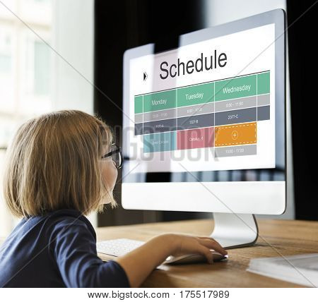 School Schedule Time Table Class Graphic