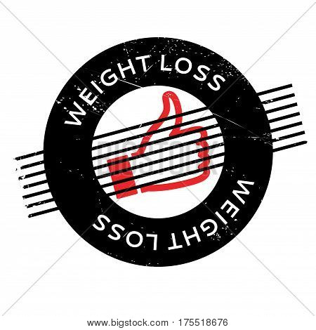 Weight Loss rubber stamp. Grunge design with dust scratches. Effects can be easily removed for a clean, crisp look. Color is easily changed.