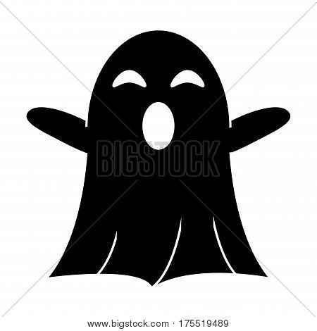 ghost april fools s day pictogram vector illustration eps 10