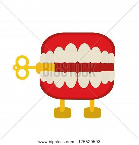 april fools  day chattering teeth vector illustration eps 10