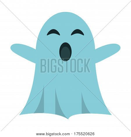 ghost april fools s day vector illustration eps 10