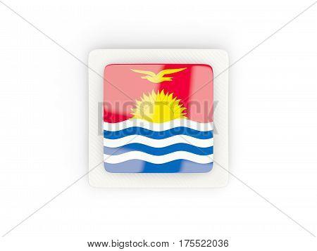 Square Carbon Icon With Flag Of Kiribati