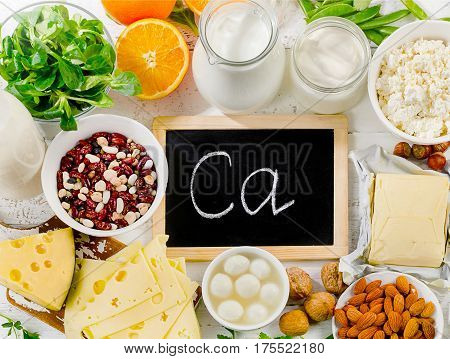 Group Of Products Rich In Calcium.