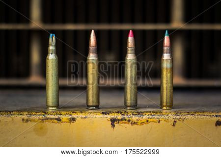 4 type bullet of assault rifle 5.56