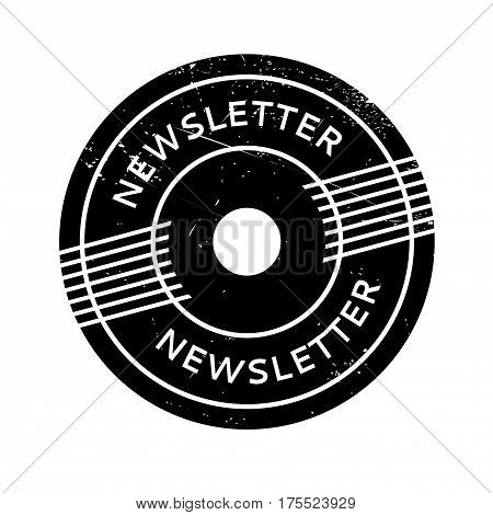 Newsletter rubber stamp. Grunge design with dust scratches. Effects can be easily removed for a clean, crisp look. Color is easily changed.