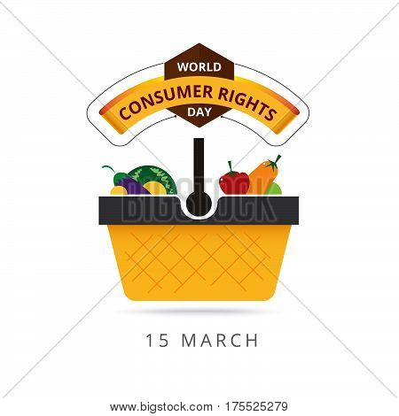 World Consumer Rights Day 15 March. Logo Design. Vector Stock.
