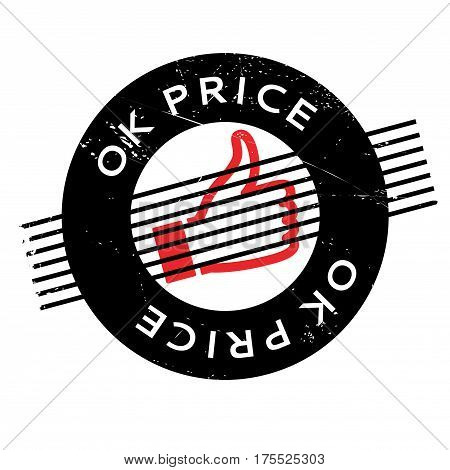 Ok Price rubber stamp. Grunge design with dust scratches. Effects can be easily removed for a clean, crisp look. Color is easily changed.