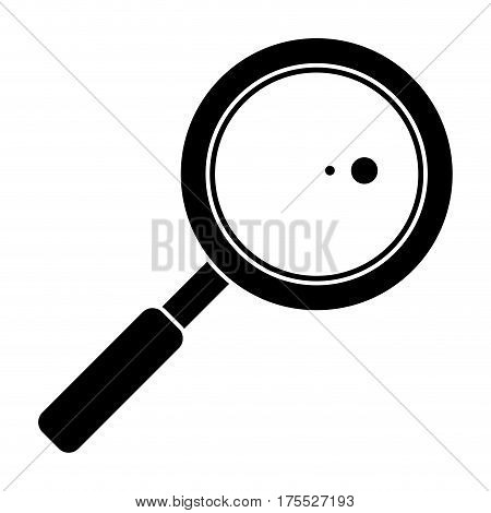 search loupe school pictogram vector illustration eps 10
