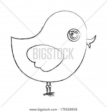 silhouette chiken animal icon, vector illustraction design