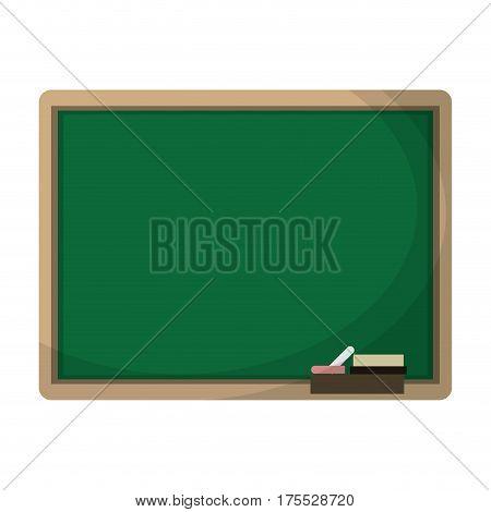 chalkboard eraser white chalk vector illustration eps 10
