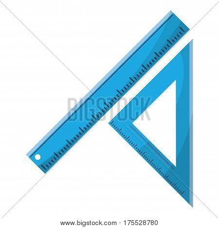 triangle ruler measuring school vector illustration eps 10