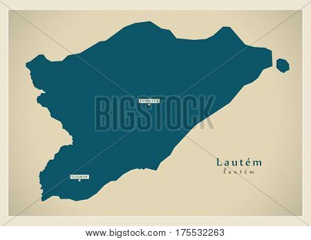 Modern Map - Lautem Tl Illustration Silhouette