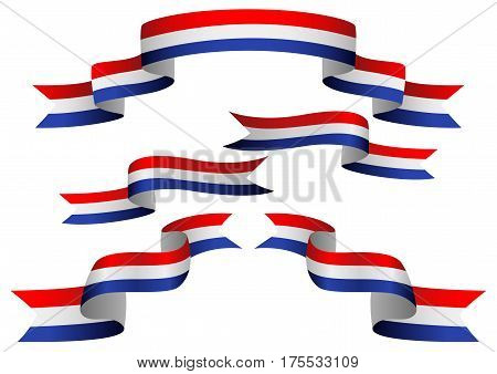 Set of Netherlands insignia in different shape of ribbons