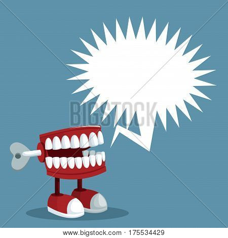 april fools day teeth prank bubble speech vector illustration eps 10