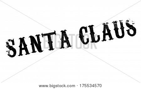 Santa Claus rubber stamp. Grunge design with dust scratches. Effects can be easily removed for a clean, crisp look. Color is easily changed.