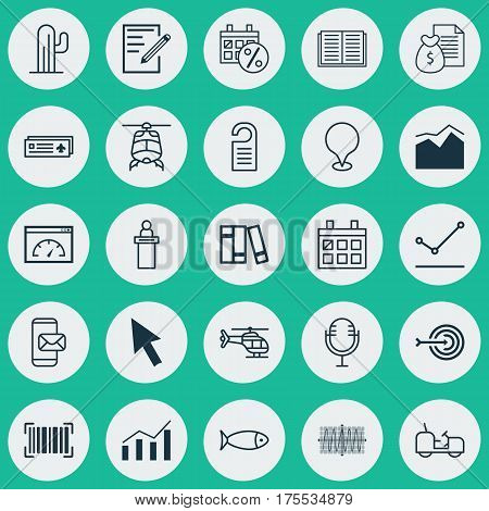 Set Of 25 Universal Editable Icons. Can Be Used For Web, Mobile And App Design. Includes Elements Such As Agrimotor, Airport Card, Arrow And More.