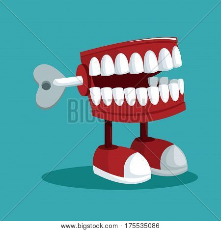 april fools day teeth practical joke vector illustration eps 10