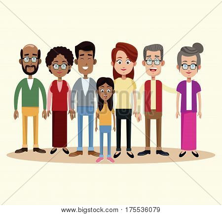 group family different multicultural vector illustration eps 10