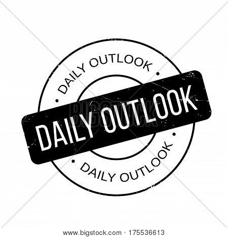 Daily Outlook rubber stamp. Grunge design with dust scratches. Effects can be easily removed for a clean, crisp look. Color is easily changed.