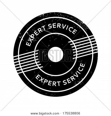 Expert Service rubber stamp. Grunge design with dust scratches. Effects can be easily removed for a clean, crisp look. Color is easily changed.