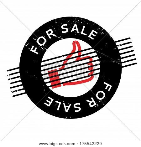 For Sale rubber stamp. Grunge design with dust scratches. Effects can be easily removed for a clean, crisp look. Color is easily changed.
