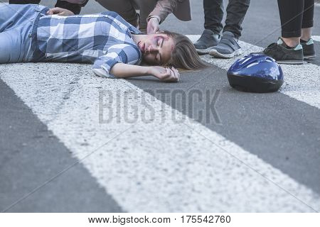 Unconscious Casualty Of A Car Crash