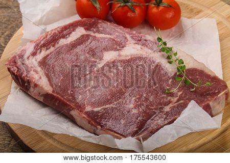 Raw Ribeye Steak