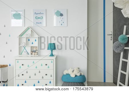 White Baby Bedroom With Dresser