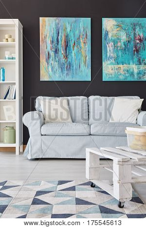 Room With White Couch