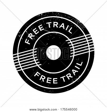 Free Trail rubber stamp. Grunge design with dust scratches. Effects can be easily removed for a clean, crisp look. Color is easily changed.