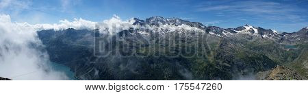 landscape from terra hill in gran paradiso national park