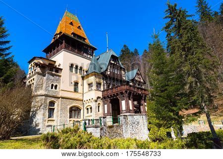 Pelisor castle summer residence in Sinaia, Romania, part of the same complex as the larger castle of Peles castle
