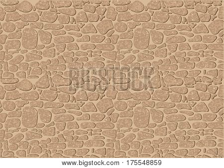 biege stone background. seamless abstract stones texture