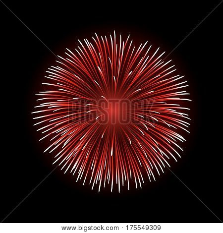 Firework Bursting Sparkle Isolated
