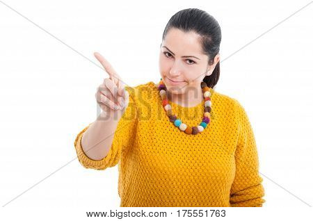 Young Beautiful Female Doing Stop Gesture